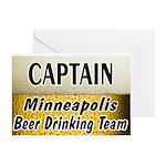 Minneapolis Beer Drinking Team Greeting Card