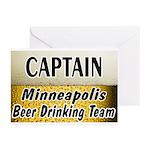 Minneapolis Beer Drinking Team Greeting Cards (Pk