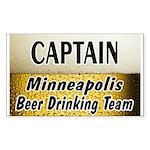 Minneapolis Beer Drinking Team Rectangle Sticker