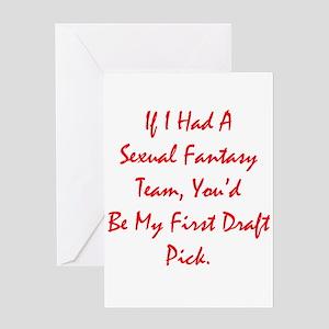 Sexual Fantasy Team Greeting Card
