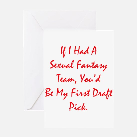 Sexual Fantasy Team Greeting Card