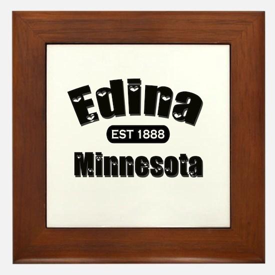Edina Established 1888 Framed Tile