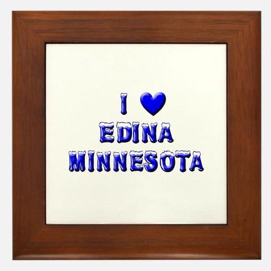 I Love Edina Winter Framed Tile