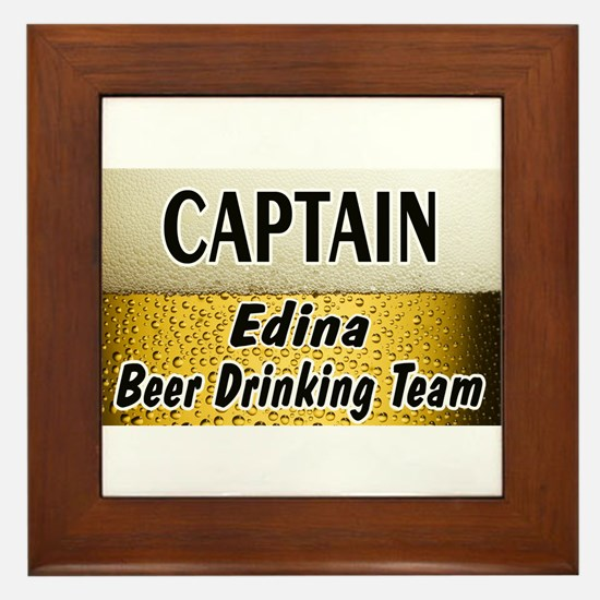 Edina Beer Drinking Team Framed Tile