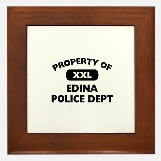 Property of Edina Police Dept Framed Tile