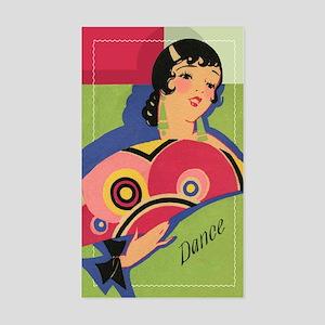 Alluring Gypsy Dancer Rectangle Sticker