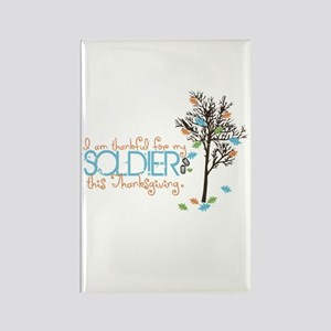 I'm thankful ... Soldier Rectangle Magnet