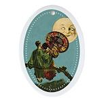 Chinese Honeymoon Oval Ornament