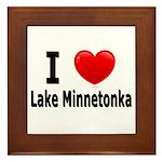 I Love Lake Minnetonka Framed Tile