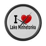 I Love Lake Minnetonka Large Wall Clock