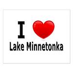 I Love Lake Minnetonka Small Poster