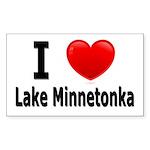 I Love Lake Minnetonka Rectangle Sticker 10 pk)