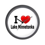 I Love Lake Minnetonka Wall Clock