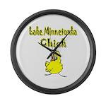 Lake Minnetonka Chick Large Wall Clock