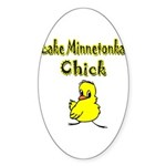 Lake Minnetonka Chick Oval Sticker (10 pk)