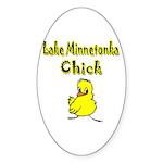 Lake Minnetonka Chick Oval Sticker (50 pk)