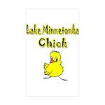 Lake Minnetonka Chick Rectangle Sticker 10 pk)