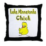 Lake Minnetonka Chick Throw Pillow