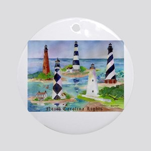 NC Light Houses Ornament (Round)