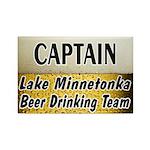 Lake Minnetonka Beer Drinking Team Rectangle Magne