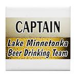 Lake Minnetonka Beer Drinking Team Tile Coaster