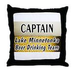 Lake Minnetonka Beer Drinking Team Throw Pillow