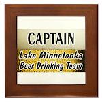 Lake Minnetonka Beer Drinking Team Framed Tile