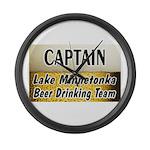 Lake Minnetonka Beer Drinking Team Large Wall Cloc