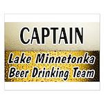Lake Minnetonka Beer Drinking Team Small Poster