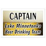 Lake Minnetonka Beer Drinking Team Large Poster