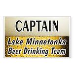 Lake Minnetonka Beer Drinking Team Sticker (Rectan