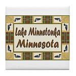 Lake Minnetonka Loon Tile Coaster