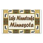 Lake Minnetonka Loon Rectangle Sticker 10 pk)
