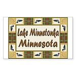 Lake Minnetonka Loon Rectangle Sticker 50 pk)
