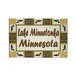 Lake Minnetonka Loon Rectangle Magnet (100 pack)