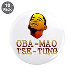 "Oba-Mao Tse-Tung 3.5"" Button (10 pack)"