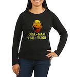 Oba-Mao Tse-Tung Women's Long Sleeve Dark T-Shirt
