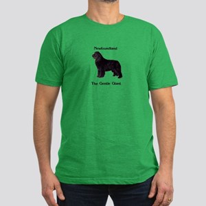 The Gentle Giant Newfoundland Dog Men's Fitted T-S