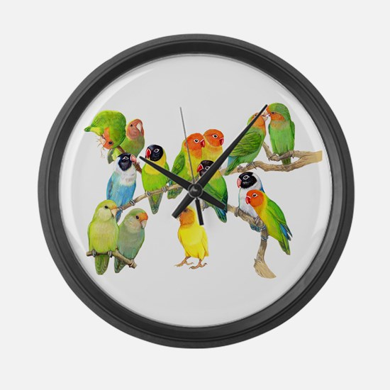 Lovebird Horde Large Wall Clock