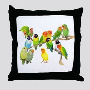 Lovebird Horde Throw Pillow