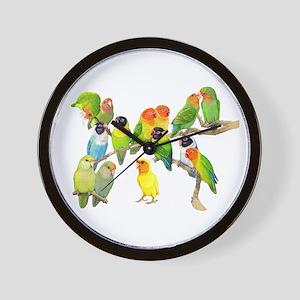Lovebird Horde Wall Clock