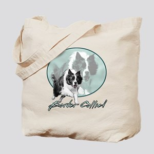 Border Collie Drive Tote Bag