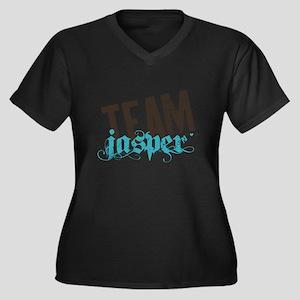 Team Jasper Women's Plus Size V-Neck Dark T-Shirt