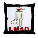 LMAO Throw Pillow