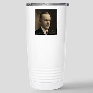 Calvin Coolidge Stainless Steel Travel Mug