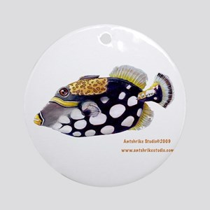 Clown Triggerfish Ornament (Round)