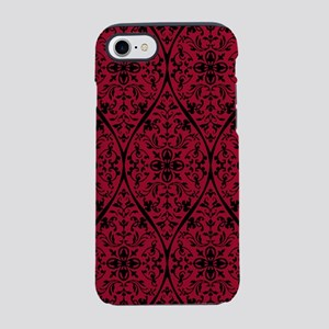 Ornate Red Gothic Pattern iPhone 7 Tough Case