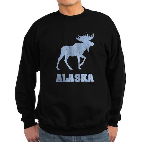 Retro Alaska Moose Sweatshirt (dark)