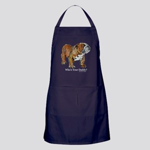 Bulldog Daddy Apron (dark)