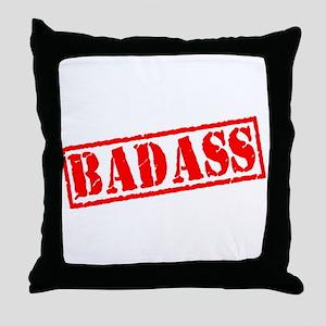Badass Stamp Throw Pillow